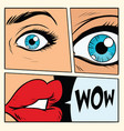 comic storyboard woman wow surprised vector image
