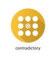 contradictory flat design long shadow glyph icon vector image vector image