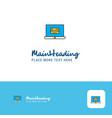 creative online banking logo design flat color vector image