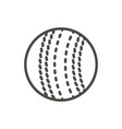 cricket ball icon line cricket symbol vector image