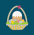 Easter Cake Icon vector image