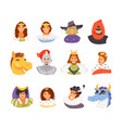 fairy tale royal characters vector image