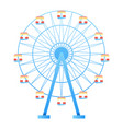 ferris wheel fun park in white background vector image vector image