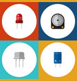 flat icon device set of recipient resist hdd and vector image vector image