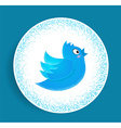 Flying twitter vector image