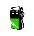 Fuel Pump Station Retro vector image vector image