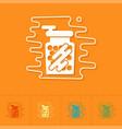 gumballs in a jar vector image