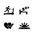 health fitness and sport simple related vector image