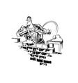home builder cartoon vector image
