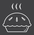 hot pie line icon food and drink bakery sign vector image vector image