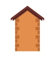 House or real estate silhouettes with brown brick vector image vector image