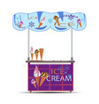 ice cream stand flat vector image