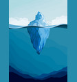 iceberg arctic landscape vector image vector image