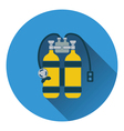 Icon of scuba vector image vector image