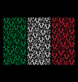 italian flag mosaic of cow head icons vector image vector image