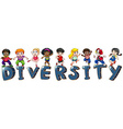 Kids with different nationalities vector image vector image