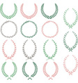 laurel wreaths hand drawn wreaths collection vector image vector image