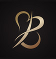 letter b with love design vector image vector image