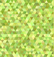 Lime triangle mosaic background design vector image vector image
