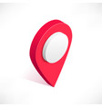 location pin isometric icon vector image