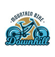 logo mountain bike downhill subject extreme vector image vector image