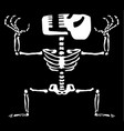 manic skeleton cartoon vector image vector image