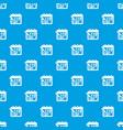 mark calendar pattern seamless blue vector image vector image