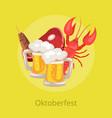 oktoberfest food and drinks vector image