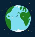 planet earth cute cartoon character vector image vector image