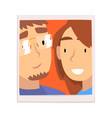portrait happy guy and girl smiling couple in vector image vector image