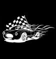 racing car with checker flag in vector image vector image