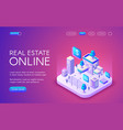 real estate online vector image vector image
