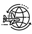 round trip line icon vector image vector image