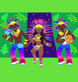 samba dancers vector image