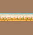 sandy and stony hot desert panorama landscape vector image vector image