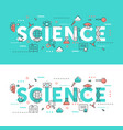 science word thin line set vector image vector image