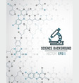 scientific chemical background vector image vector image