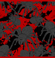 seamless pattern with scary and creepy spider vector image vector image