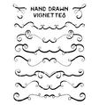 set hand drawn vignettes in grunge retro style vector image