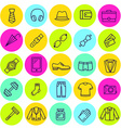 set of icons mens clothing and accessories vector image