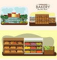 set of supermarket departments fruit food store vector image