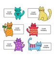 signs with Cartoon kittens vector image vector image