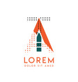 ta modern logo design with orange and green color vector image vector image