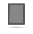 Tablet pc isolated on a white backgrounds vector image vector image