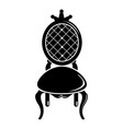 throne icon simple black style vector image vector image