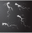 Thunderstorm Realistic Elements Set vector image vector image