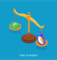 time or money choice concept vector image