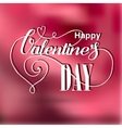 Valentines day vintage lettering card vector image