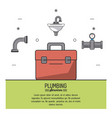 white background poster plumbing services with vector image vector image