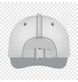 white cap back view mockup realistic style vector image vector image